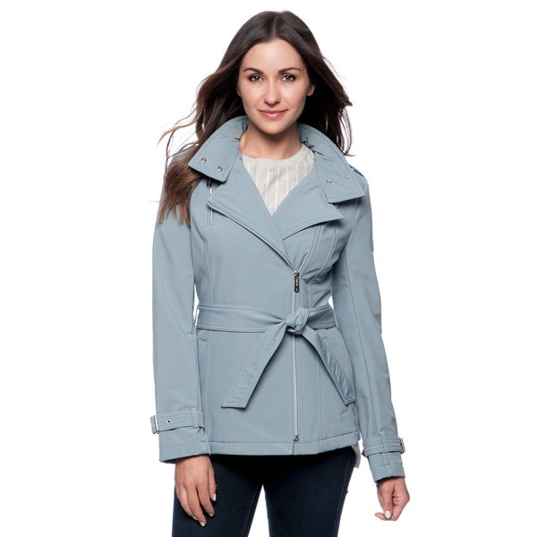 Kenneth Cole Reaction Asymmetrical Softshell Jacket