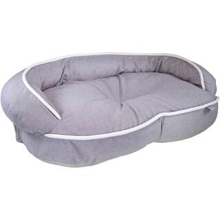Kathy Ireland Loved Ones Constant Comfort Bolster Pet Bed-Medium-Brown