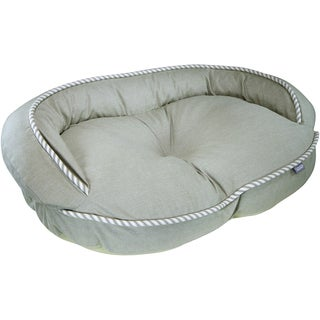 """Kathy Ireland """"Loved Ones"""" Constant Comfort Bolster Pet Bed (Large/Green)"""
