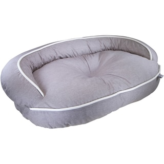 Kathy Ireland Loved Ones Constant Comfort Bolster Large Brown Pet Bed