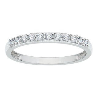 14k White Gold 1/4ct TDW Diamond Wedding Band (G-H, I2-I3)
