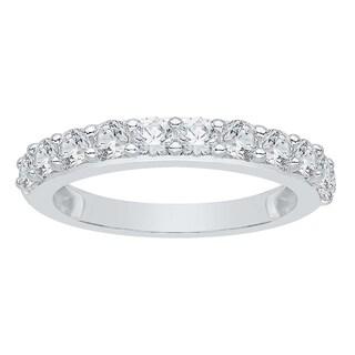 14k White Gold 1ct TDW Diamond Wedding Band (G-H, I2-I3)