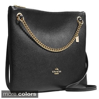Coach Convertible Pebbled Crossbody