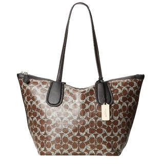 Coach Signature Taxi Zip Tote in Signature Coated Canvas