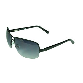 Kenneth Cole Reaction Shiny Black Aviator Sunglasses