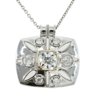Michael Valitutti 14k Gold over Silver Cubic Zirconia Necklace