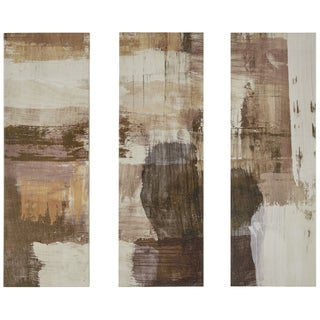 Neutral Triptych Wrapped Giclee Print Canvas Wall Art (Set of 3)
