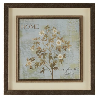 """""""Home Is Where the Heart Is"""" Framed Giclee Print Wall Art with Glass"""