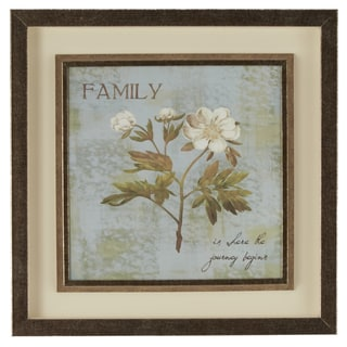 'Family Is Where the Journey Begins' Framed Giclee Print Wall Art with Glass