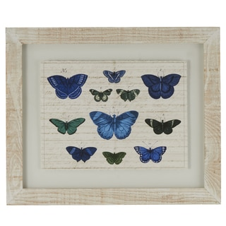 Butterflies Framed Giclee Print Wall Art with Glass