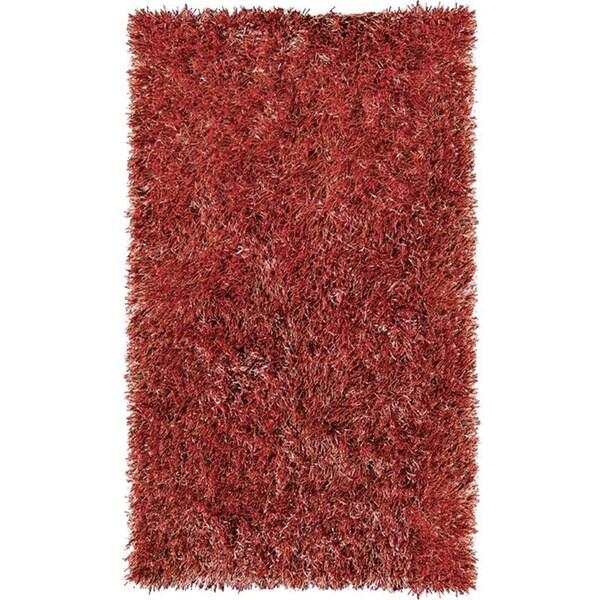 Indoor/ Outdoor Red Grazin' in the Grass Area Rug (5' x 8')