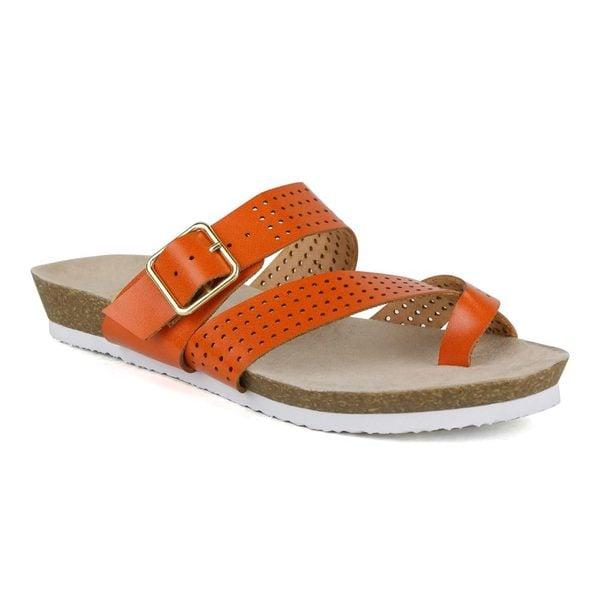 Fahrenheit Women's Betty-06 Mesh Upper Flat Sandals