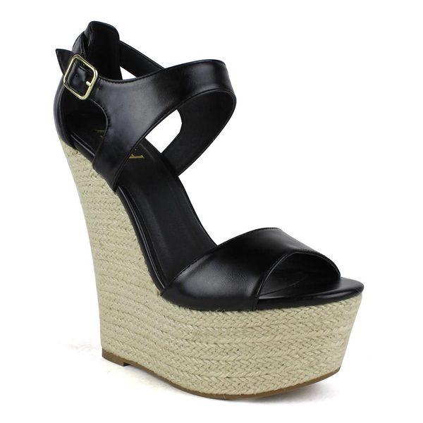 Fahrenheit Women's Gladys-03 Woven Wedge Sandals