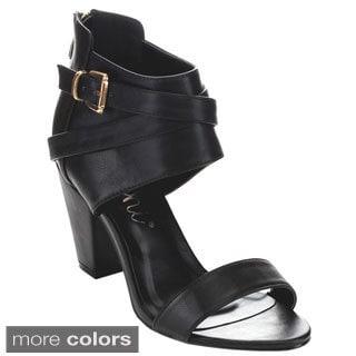 MACHI JL-SORTI Women's Basic Ankle Strap Heels