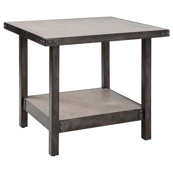 Ink+Ivy Cody Concrete End Table