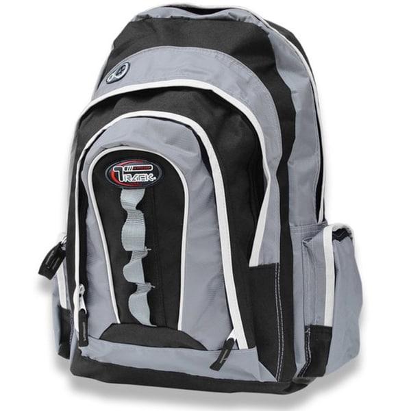 Multi-Purpose Black/ Silver Extra Storage Backpack