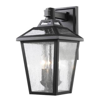 Avery Home Lighting Bayland 3-Light Black Outdoor Wall Light