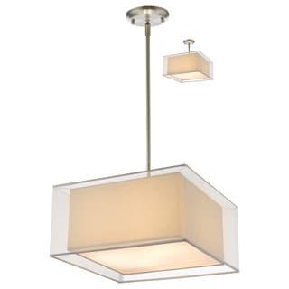 Z-Lite Sedona 3-light White Brushed Nickel Pendant Light