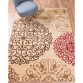 Well Woven Sublime Lines Moody Modern Suzzani Modern Ivory/Multi Polypropylene Rug (7'10 x 10'6 )