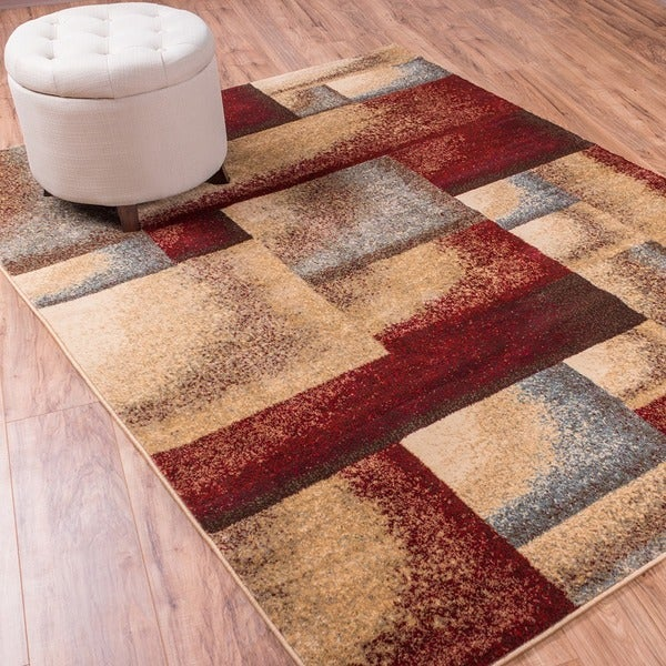 Well Woven Sublime Lines Dradient Mix Multi Polypropylene Rug (5'3 x 7'3)