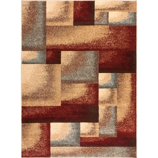Well Woven Sublime Lines Dradient Mix Multi Polypropylene Rug (7'10 x 10'6 )