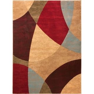 Well Woven Sublime Lines Color Blocks Multi Polypropylene Rug (5'3 x 7'3)
