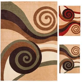 Well Woven Bright Trendy Twist Spirals Air Twisted Polypropylene Rug (5'3 x 7'3)