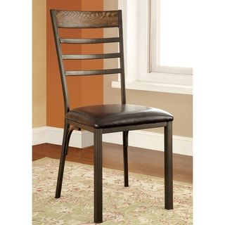 Furniture of America Mennits Industrial Style Side Chair (Set of 2)