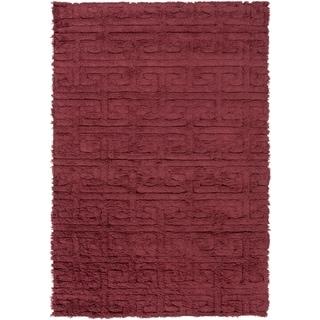 Hand-Woven Matthew Solid Wool Rug (5' x 8')