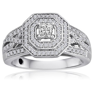 Platinaire 1/2ct TDW Diamond Engagement Ring (H-I, I2-I3)