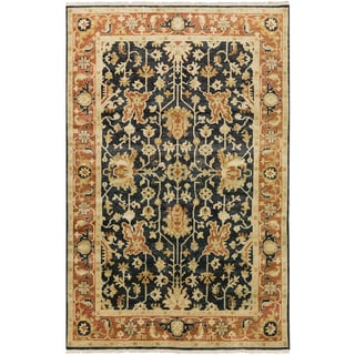 Hand-Knotted Davon Border Indoor Rug (9'6 x 13'6)