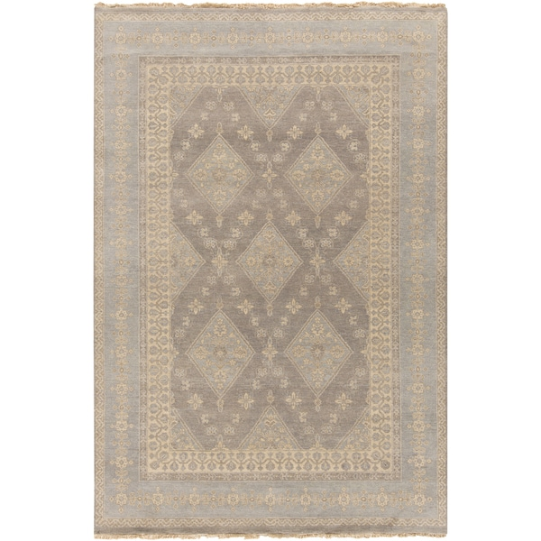 Hand-Knotted Dorothea Border Wool Rug (9' x 12')
