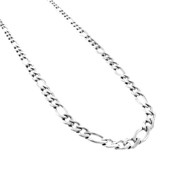 Stainless Steel Men's 6mm Figaro Link Chain Necklace (24-inch)