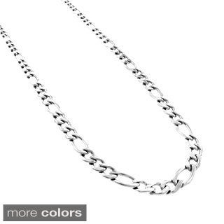 Stainless Steel 6 mm Figaro Chain Necklace