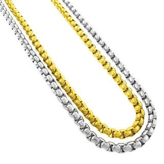 Stainless Steel Men's 5mm Round Box Chain Necklace (24-inch)
