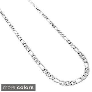 Stainless Steel Men's 5mm Figaro Link Chain Necklace (24-inch)