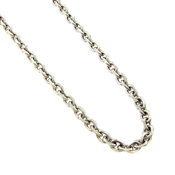 Stainless Steel Men's 6mm Cable Chain Necklace (24-inch)