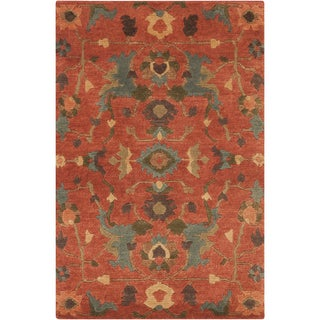 Hand-Knotted Abbigail Border Indoor Rug (9' x 13')
