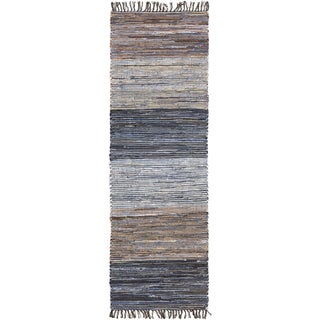 Hand-Loomed Justin Stripe Cotton Rug (2'6 x 8')