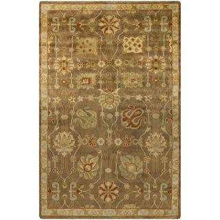 Hand-Knotted Caitlin Floral New Zealand Wool Rug (9' x 13')