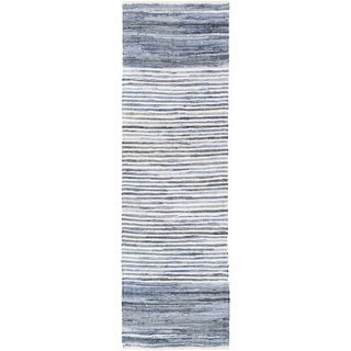 Hand-Loomed Carabello Stripe Cotton Rug (2'6 x 8')