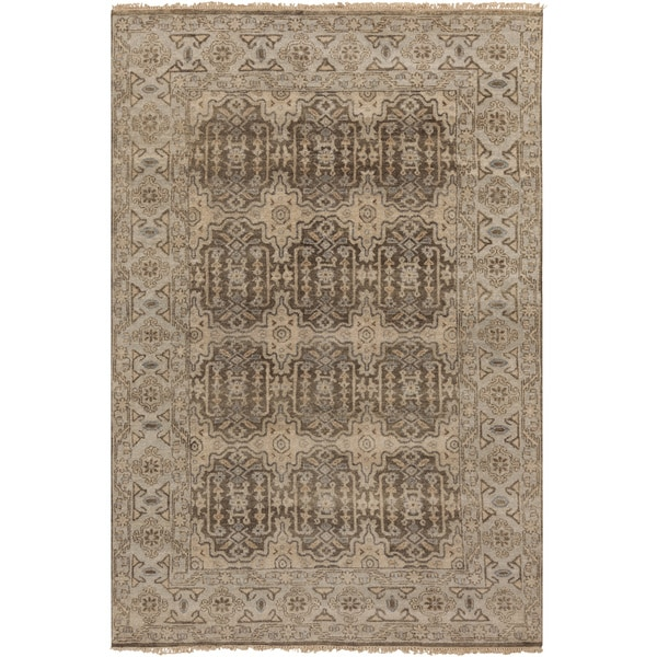 Hand-Knotted Archer Oriental New Zealand Wool Rug (2' x 3')