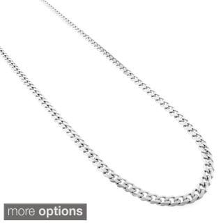 Stainless Steel 3.5 mm Cuban Chain Necklace