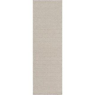 Hand-Woven Kristie Geometric Wool Rug (2'6 x 8')