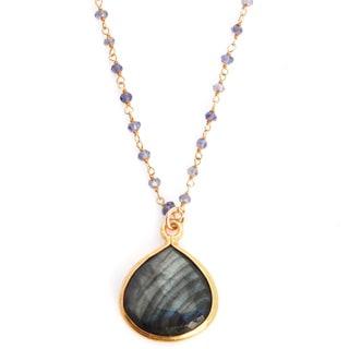 Alchemy Jewelry Gold Overlay Gemstone Necklace