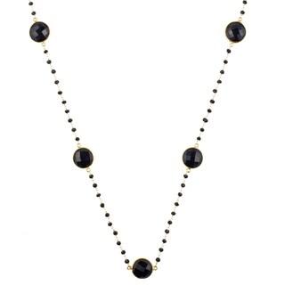 Alchemy Jewelry 22k Goldplated Black Onyx Necklace