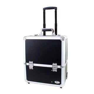 Jacki Design Rolling Aluminum Pro Make Up Artist Train Case