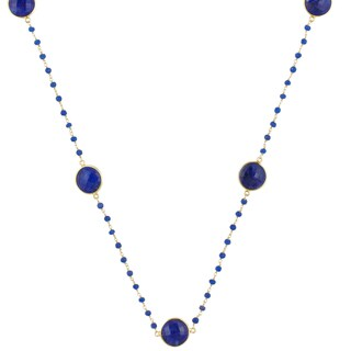 Alchemy Jewelry 22k Gold-plated Sapphire Necklace