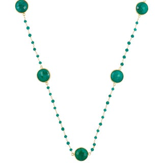 Alchemy Jewelry Gold Overlay Emerald Gemstone Necklace