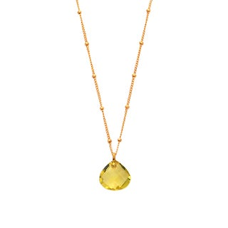Alchemy Jewelry Pear Citrine Gemstone Necklace